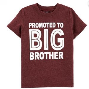 🆕Carter's PROMOTED TO BIG BROTHER Tee